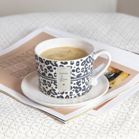 """Bastion Collections mok """"Leopard Coffee Love"""""""