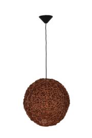 Hanging lamp round frame Koper