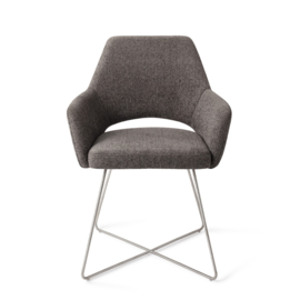 Yanai Eetkamerstoel - Amazing Grey, Cross Steel