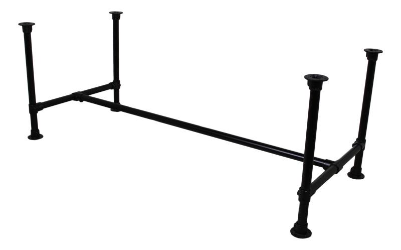 Tafelpoten Metaal Zwart.Tafelpoot Steigerpijp Small Zwart O42mm Tbv Tafel 180