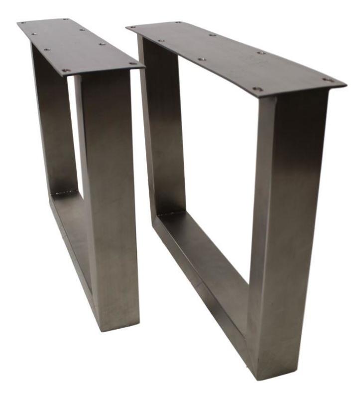 Betere U-poten voor salontafel - stainless - metaal - set   Onderstellen MW-68