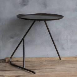 Metalen salontafel 47x50cm