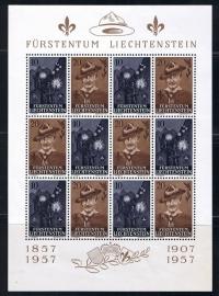 Liechtenstein michel 360/3610 padvinderij compleet postfrisse klienbogen. cat waarde 30.00