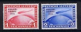 Zeppelin 1931 Polarfahrt michel 456/457 postfris. cat waarde € 1800,-