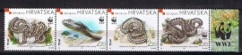 Croatien WWF michel 500/503 in strip postfris, cat waarde 3.60