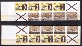 Postzegelboekjes 3A en 3B versneden postfris.