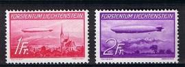 Zeppelin 1936 michel 149/150 postfris. cat waarde 250,00