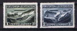 Zeppelin 1931 michel 114/115 ongebruikt. cat waarde 650,00 als ***