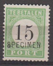 Port no 5 met opdruk specimen