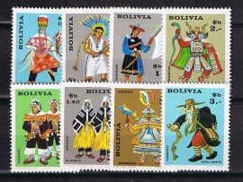 Bolivia Michel 743/750 postfris. Cat waarde 6.00