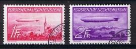 Zeppelin 1936 michel 149/150 gebruikt. cat waarde 240,00