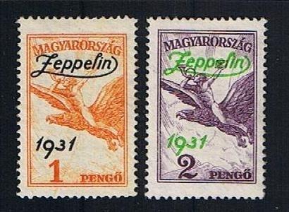 Michel 478/479 Zeppelin postfris. Cat waarde 200.00