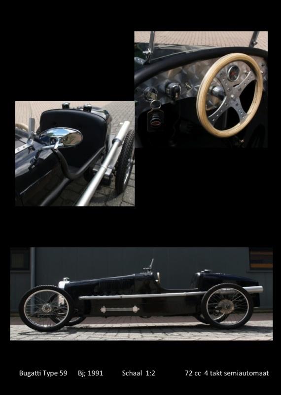 Bugatti Type 59 - Bj 1991 - Schaal 1:2 - 72 cc 4 takt semiautomaat