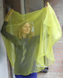 Sluier halfrond transparant organza OLIJF GROEN doorzichtig - 180 cm x 110 cm - OLIVE GREEN organza veil halfcircle transparent