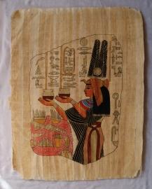 Originele Egyptische papyrus met faraonische afbeeldingen 6 Nefertari