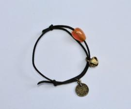 """Veter armband """"Meditatie moment"""" - """"Meditation time"""" Leather Lace bracelet - one size adaptable - Bracelet  charme """"Bracelet méditation"""""""