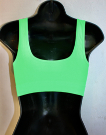 Fitness stretch topje met uitneembare vulling FUCHSIA, FLUO ROSE, FELGROEN, WIT - S/M - M/L - Sleeveless stretch top  FLUORESCENT PINK, FUCHSIA, BRIGHT GREEN, WHITE