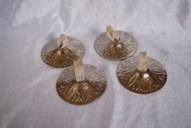 Zills ZILVER kleurig - 6,4 cm diameter - Finger cymbals SILVER colored