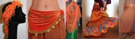 Oranje buikdanskleding