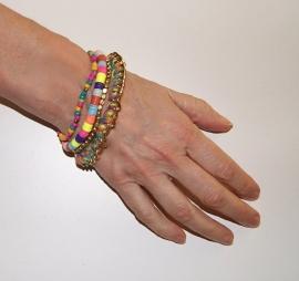 """Ibiza """"Regenboog"""" setje van 4 armbandjes - Ibiza """"Rainbow"""" 4-piece bracelet set"""