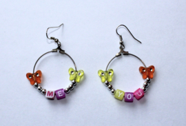 Lichtgewicht ME YOU oorbellen - diameter 3 cm - Lightweight ME YOU earrings