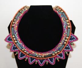 Halssnoer Tribal Fusion, Farao Indianen, Azteken Opperhoofd - Necklace Pharao, Native American,  Chief Aztecs