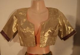 Bolero Harem prinsessen jasje Indiase stijl GOUD met korte mouwtjes - XXS, Extra Small, Small,  Petite - Bolero Harem princess jacket GOLD short sleeves