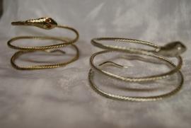 Slangenarmband GOUD of ZILVER kleurig - Snake bracelet GOLD color or SILVER color