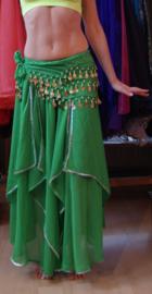 Rok Orientaals tulpmodel GROEN zilver - skirt Oriental tulip GREEN silver