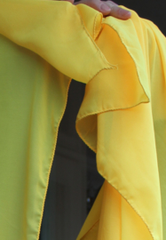 Sluier rechthoekig chiffon GEEL - veil rectangle chiffon YELLOW