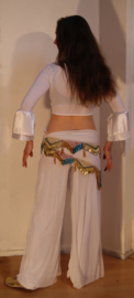 Broek/rok WIT stretch oefenkleding - WHITE stretch exercise pants / skirt