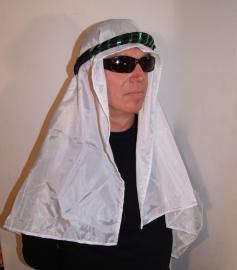 Saudi olie sjeik heren hoofddeksel : hoofdband ZWART GROEN+bijpassende sjaal - Saudi oil sheikh head gear :headband BLACK GREEN+ matching shawl