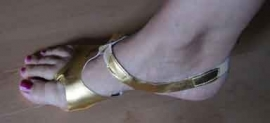 Buikdanssandalen GOUD - Bellydance Afro Sandals Shoes GOLD