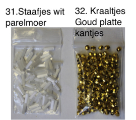 Losse kralen en pailletten per zakje - Beads and sequins small bags