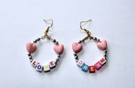 Lichtgewicht Dream Love oorbellen - diameter 3,2 cm - Lightweight Dream Love earrings