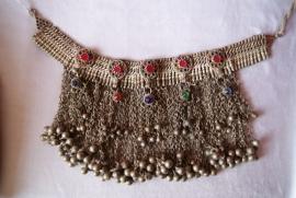 Authentiek Antiek etnisch Tribal halssnoer, choker, stammen juweel zilver - Vintage - Authentic Antique tribal necklace ethnic silver choker