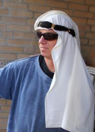 Saudi olie sjeik heren hoofddeksel : bijpassende sjaal + hoofdband ZWART GOUD - Saudi oil sheikh head gear : matching shawl + headband BLACK GOLD