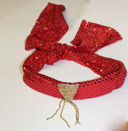 1001 Nacht luxe hoofdband dames heren ROOD GOUD - 1001 Night lush headband RED GOLD ladies gentlemen