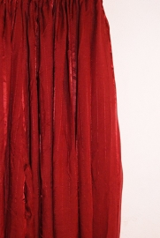 Harembroek katoen met glimstreepje BORDEAUX / DONKERROOD - one size fits up to XL - Harempants WINRED / DARK RED