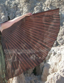 Isiswings DONKER BRUIN organza zeer transparant - Wings of Isis DARK BROWN organza very transparent - Ailes d'Isis BRUN FONCÉ