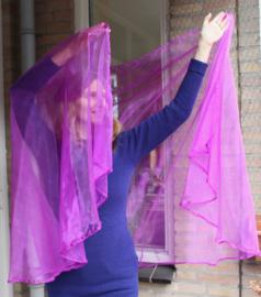 Sluier halfrond transparant organza PAARS transparant - 250cm x 110 cm PURPLE organza veil halfcircle transparent - Voile de danse orientale demi cercle VIOLET