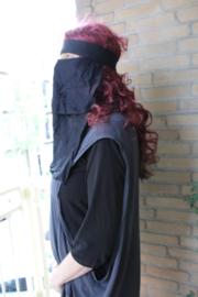 Origineel ZWART Egyptisch bedoeïenen gezichtsmasker, niqab - one size - original Egyptian face mask, niqab BLACK