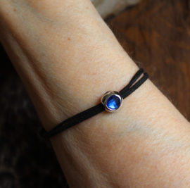 "Veter armband ""Derde Oog"" - one size adaptable - ""Third Eye"" Leather Lace bracelet"