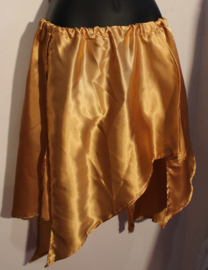 Asymmetrisch punten rokje GOUD satijn - one size - Asymmetrical satin points skirt GOLD