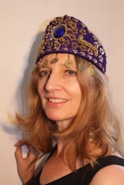 Prinsessen kroon / hoofd sieraad PAARS GOUD - Princess crown / head jewel  PURPLE GOLD