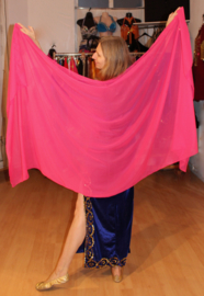 FUCHSIA ROZE sluier chiffon rechthoekig licht transparant - 224cm x 110 cm - Chiffon veil rectangle FUCHSIA PINK slightly transparent