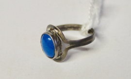 Ring  zilver TURKOOIS TURQUOISE halfedelsteen - maat 53/54/55 size - Ring SILVER TURQUOISE gemstone