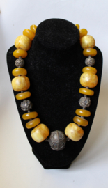 Authentiek halssnoer Amber Only van de Zijderoute - Original Silk Road Necklace Amber Only