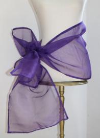 PAARS organza smalle sjaal sluier hoofdsluier hoofdband heupsjaal - PURPLE organza small veil shawl headband