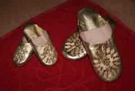 Babouches Marokkaanse slofjes meisje goud, 16,5 cm - Babouches 16,5 cm gold for girls
